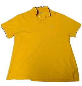 Blue-Marithe-Francois-Girbaud-Polo-Yellow-2X-2XL-Tipped-Short-Sleeve-Shirt-MFG