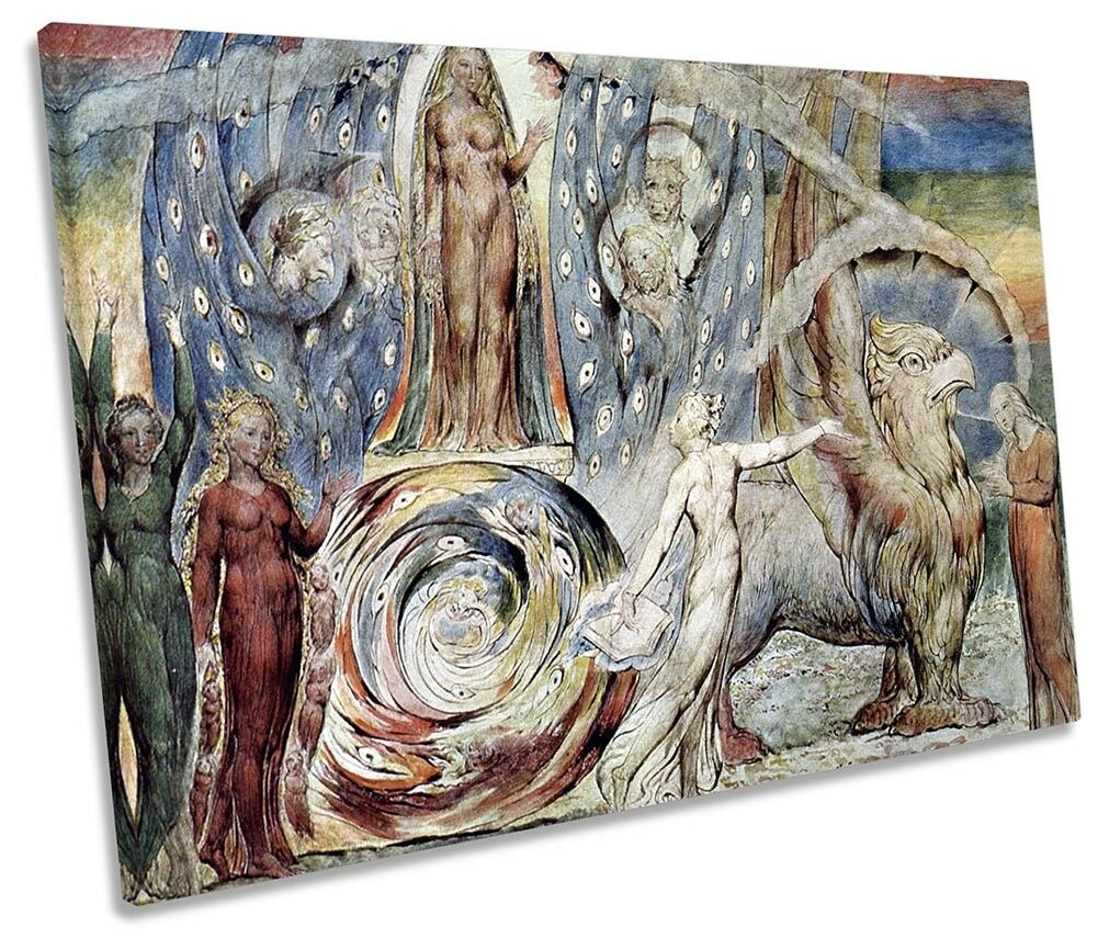 William Blake Beatrice Picture Picture Picture SINGLE CANVAS WALL ART Print ce0724