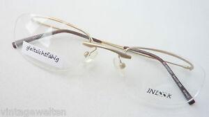 Augenoptik Zielsetzung Balken Brille Gebogen Unisex Gestell Nur Oberrand Inlook Randlos Frame Size S