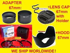 ADAPTER+FILTER KIT+HOOD+CAP 67mm for CAMERA NIKON COOLPIX P500 P510 P520 P530