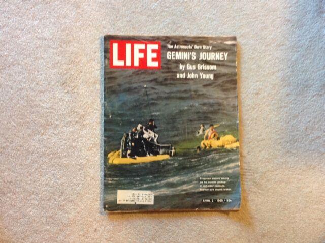 LIFE MAGAZINE April 2, 1965 Gus Grissom & John Young GEMINI'S JOURNEY Space