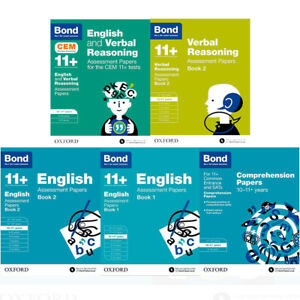 BOND-11-English-and-Verbal-Reasoning-10-11-Year-Collection-5-Books-Set-Pack-NEW