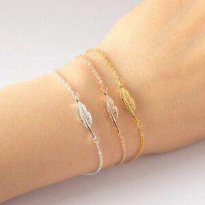 Feder-Armband-Fluegel-Boho-Trend-925er-Sterling-Silber-von-Elli-Uberzogen