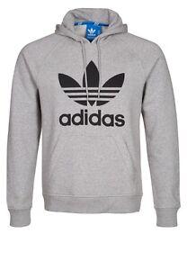 Détails sur Adidas Hommes Originals Trefoil Polaire à Capuche Sweat à capuche afficher le titre d'origine