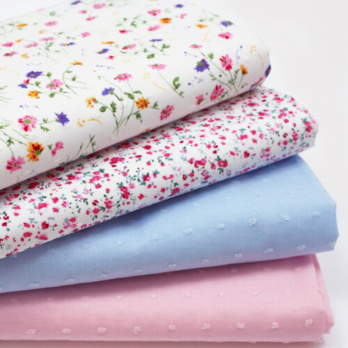 DOTTED SWISS CLIPPED COTTON EXTRA FINE LAWN fabric DRESSMAKING NURSERY CHILDREN