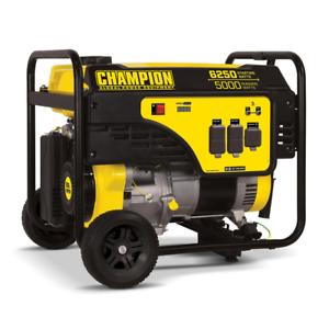 Champion Power Equipment Portable Generator 6250/5000-Watt Gasoline Powered