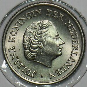 Netherlands 1955 25 Cents 152460 combine