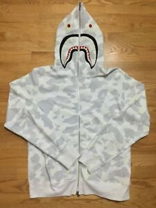 943782e18c58 Bape Bathing Ape City Camo Glow in the dark Shark Hoodie White XL ...