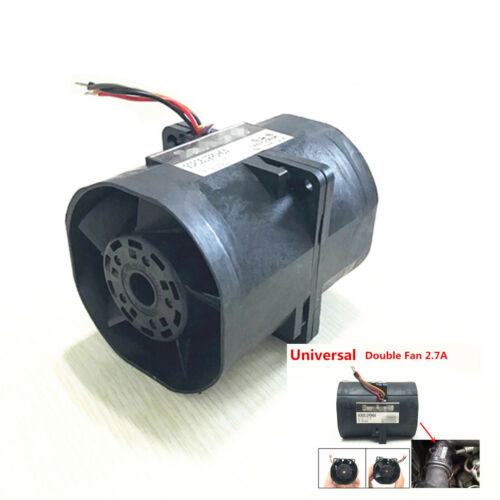 Electric turbine Turbo Double Fan super charger Boost Intake Fans 60 2.7A