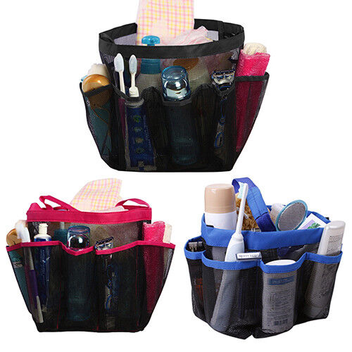 KE/_ FT Bathroom Shower Organizer Bag Rack Caddy Hanging Tote Travel Basket Ba