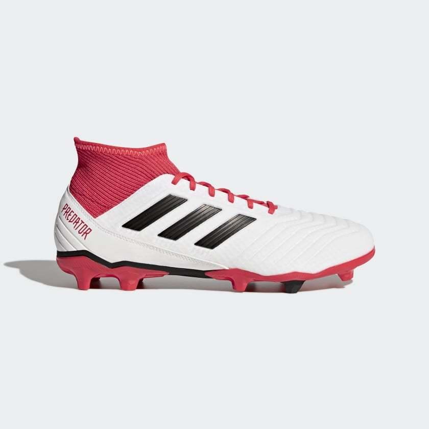 Adidas señores botas de fútbol Projoator 18.3 FG (cm7667) blancoo y rojo, talla 41-47  nuevo