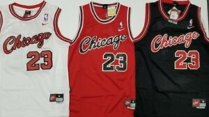 Chicago-Bulls-23-Michael-Jordan-Vintage-Retro-Men-039-s-Jersey