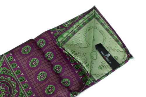 Lord R Colton Masterworks Pocket Square Rocas Atoll Raspberry Silk $75 New