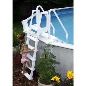 Image Is Loading Blue Wave Easy Pool Step W Outside Ladder