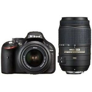 Used Nikon D5200 With 18 55mm Vr And 55 200mm Vr Black Excellent Free Shipping Ebay