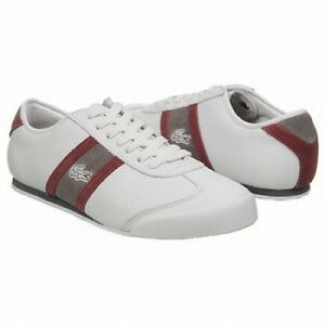 lacoste tourelle ciw white leather casual athletic
