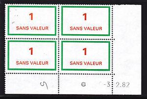 FRANCE-TIMBRE-FICTIF-F212-MNH-coin-date-3-2-82-TB