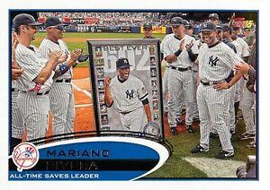 2012 Topps Baseball 109 Mariano Rivera All Time Saves Leader