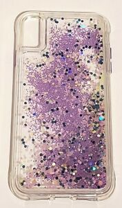 purchase cheap 2ab1d 7f275 Details about Case Mate GLOW WATERFALL Case for Apple iPhone Xs Max -  Purple Glow