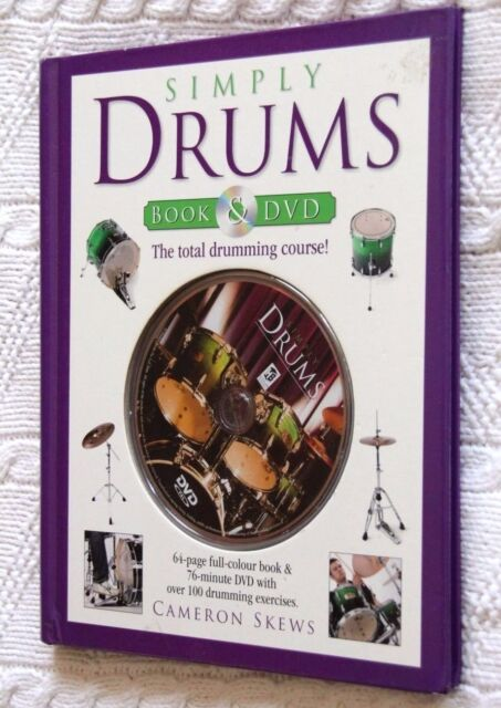 SIMPLY DRUMS: THE TOTAL DRUMMING COURSE (BOOK AND DVD), LIKE NEW, FREE SHIPPING