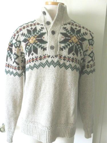 Vintage Polo Ralph Lauren 1/4 Button Cotton/Linen/