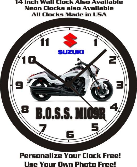 2015 SUZUKI B.O.S.S. M109R MOTORCYCLE WALL CLOCK-FREE USA SHIP!