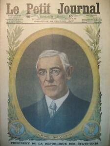 WW1-Pdt-WILSON-LILLE-LILLOISES-REFUS-DE-PETITION-ALLEMANDE-LE-PETIT-JOURNAL-1917