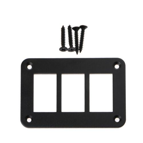 Aluminum Rocker 2//3//4//6 Way Switch Panel Housing Holder For Car Boat Auto Parts
