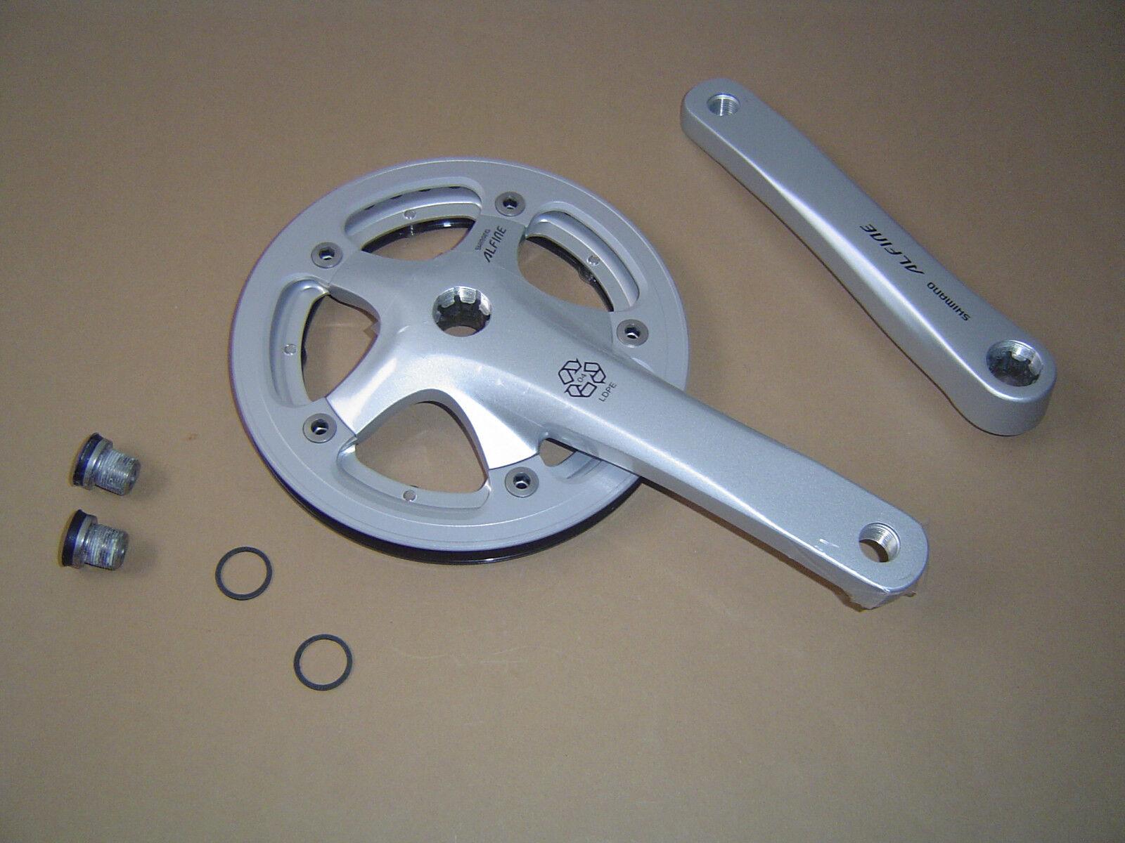 Shimano Shimano Shimano Alfine FC-S400 Kurbelgarnitur 170mm Silber mit incl.Kurbelschrauben Neu 92aaa9