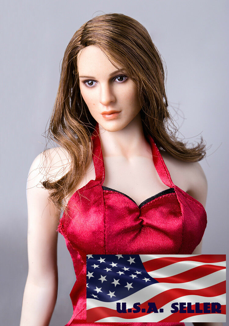 1 6 American Beauty Female Head Sculpt For 12    PHICEN VERYCOOL Hot Toys Figure d38f83