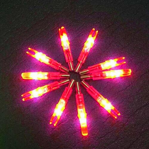 12//6PCS Archery Target Hunting Lighted Nock Compound Bow LED Arrows Nocks L0Z1