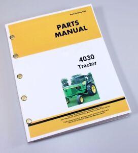 2019 DernièRe Conception Pièces Manuel Pour John Deere 4030 Tracteur Catalogue Assemblage Explosé Soulager La Chaleur Et La Soif.