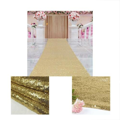 48Inch By 15FT Wedding Sequin Aisle Runner Marriage Ceremony Bridal Carpet