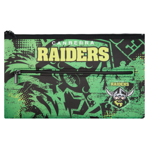 Canberra Raiders NRL Pencil Case for School Work stationary QUALITY LARGE Gift