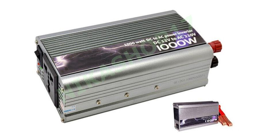 INVERTER 1000W 1000 WATT 12V 220V AUTO CAMPER CAVI AC