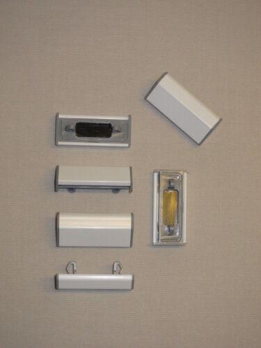 blanc schüco 10 lots pour ALU-fenêtre L/' eau fente capsules en aluminium