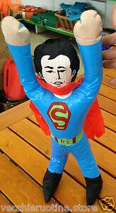 Antikspielzeug Gefertigt Nach 1970 Temperamentvoll Vintage Superman Super Man Aufblasbar Aufblasbare Anni '80 Seltene