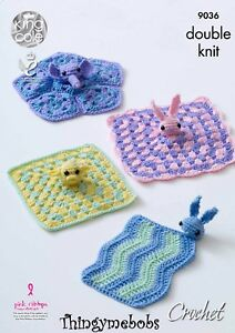 Image is loading KING-COLE-9036-BABY-COMFORT-BLANKETS-LUVVIES-BLANKIES-