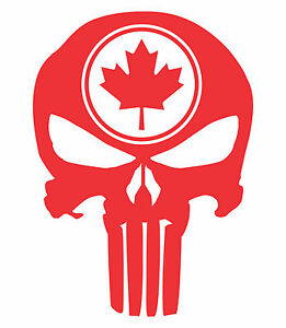 Punisher-Skull-Maple-Leaf-Vinyl-Decal-Sticker-Canadian-Flag-Truck-Motorcycle-JDM