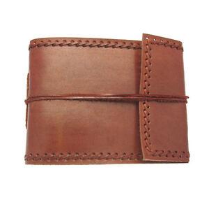 Fair Trade Handmade Stitched Small Leather Photo Album Scrapbook