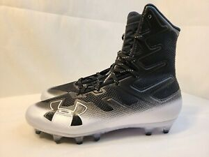 Mens Under Armour Highlight MC White Football Cleat 3000177-100 Size 6.5 9 13