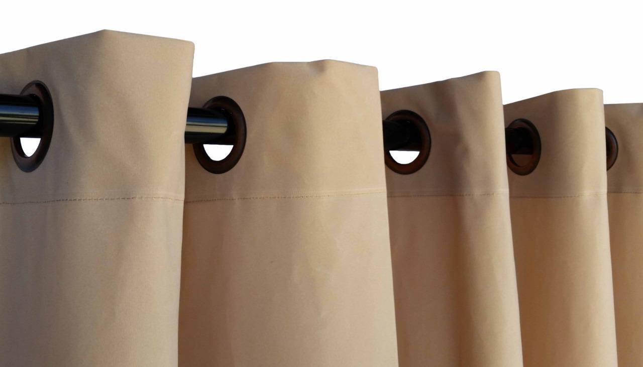 Beige 244cm H Panneau Rideau En En En Velours avec/œillet Oeillets Haut De La Page | Durable  83e836