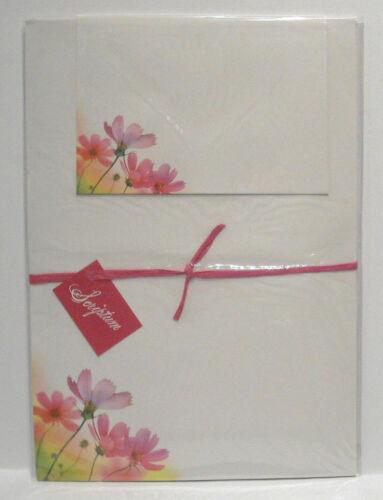"""Motiv Briefpapier /""""Fleur/"""" Geschenk-Set 12 Bogen 12 Umschläge Venceremos 50258"""