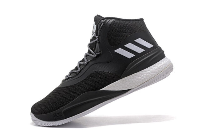 check out 90b67 0873a Adidas D Rose 8 Black White Boost NBA Basketball Shoes Derrick CQ1619 Mens  15