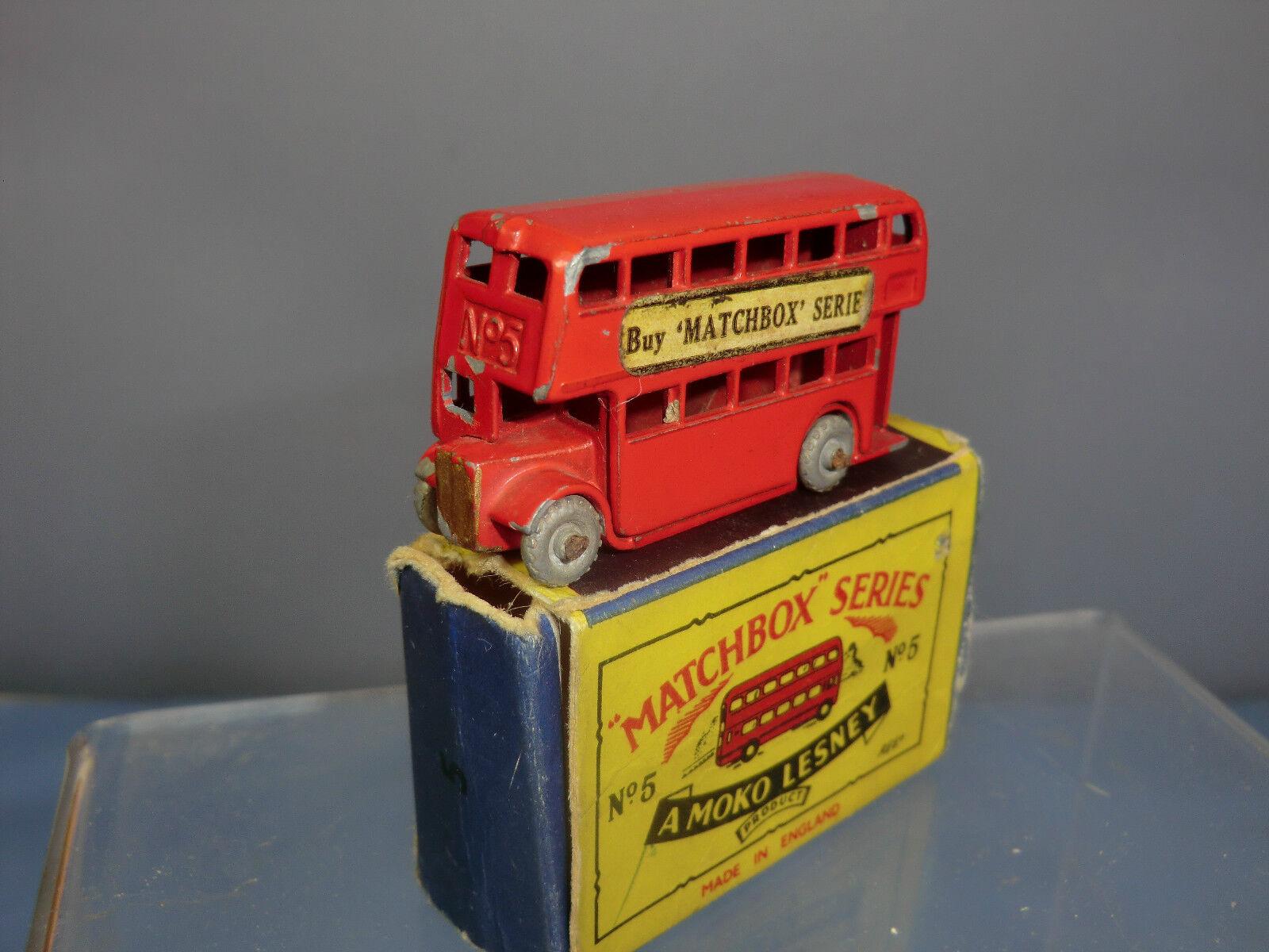 Matchbox Lesney Lesney Lesney Modelo NO.5a London Bus (52mm) NMIB cac874