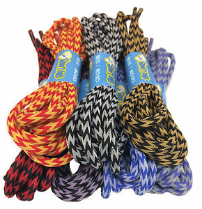 ROUND-ZIG-ZAG-SHOELACES-4mm-wide-130cm-long-Several-Colours-Free-UK-P-amp-P