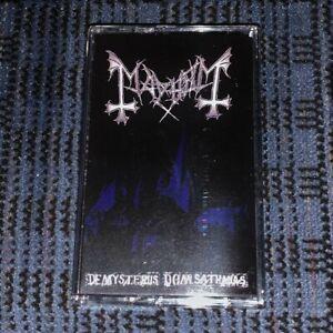 MAYHEM-de-Mysteriis-dom-Sathanas-Cassette-Tape-Very-Rare-Mint