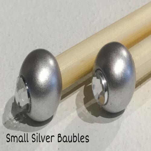 grano 1 Agujas de Tejer de Bambú con cuentas de par//Gancho Tamaño 5.5mm Elija Longitud tamaño