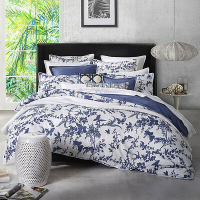 Florence Broadhurst Tropical Floral Navy Duvet Doona Quilt Cover Set 3 Bed Sizes