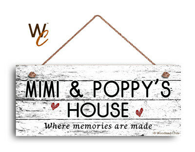 Where Memories Are Made Weathered Style 6x14 Sign MIMI AND PAPA/'S HOUSE Sign